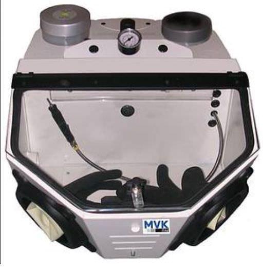 2 tanks dental laboratory sandblaster SG-1 MVK-line