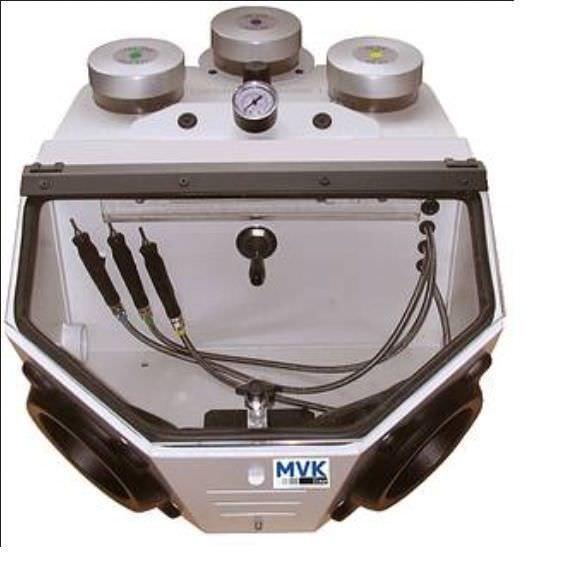 2 tanks dental sandblaster SG-3 MVK-line