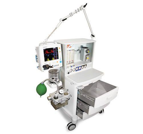 Anaesthesia workstation with electronic gas mixer / 6-tube Maja MS Westfalia