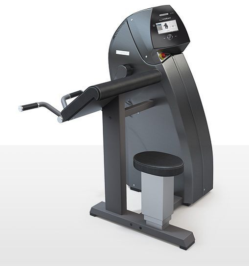 Weight training station (weight training) / arm curl / traditional miltronic milon industries