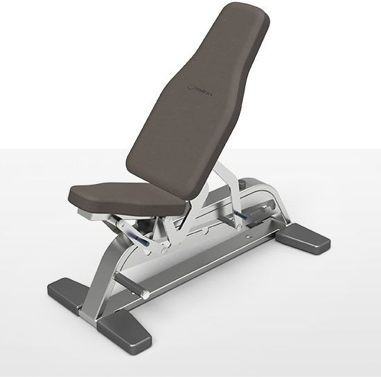 Weight training bench (weight training) / traditional / adjustable milcanic milon industries