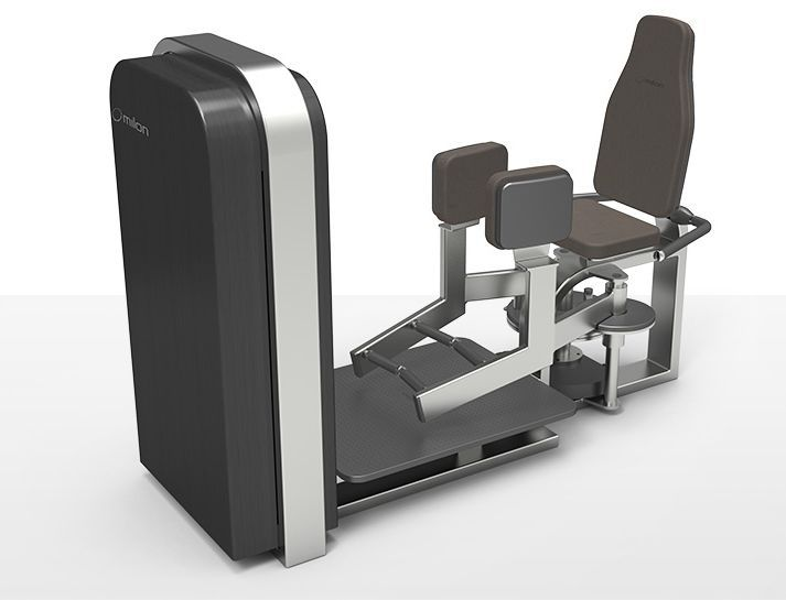 Weight training station (weight training) / legs abduction / traditional milcanic milon industries
