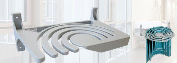Wall-mounted X-ray apron rack AW417 MAVIG