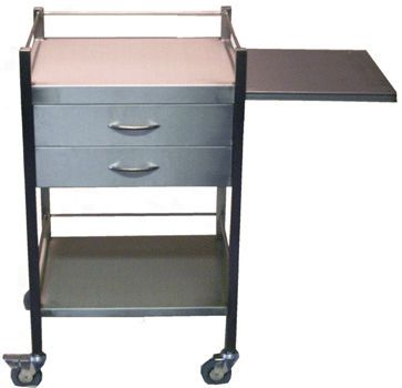 Treatment trolley / with drawer / stainless steel / 2-tray ST500 / ST505 / ST510 / ST515 Minwa (Aust) Pty Ltd.