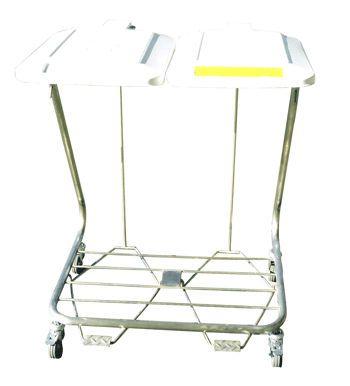 Dirty linen trolley / 2-bag LS022 / LS011 / LS033 Minwa (Aust) Pty Ltd.