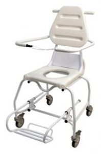 Shower chair / on casters / with cutout seat Ranger Joerns Healthcare