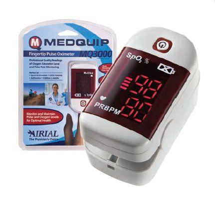 Fingertip pulse oximeter / compact MQ3000 Medquip