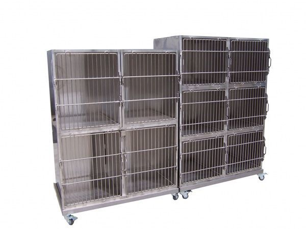 Stainless steel veterinary cage McDonald Veterinary Equipment