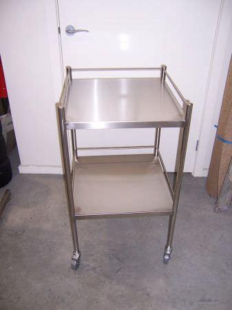 Instrument cart / stainless steel / 2-shelf McDonald Veterinary Equipment