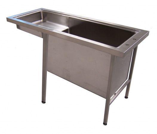 Veterinary examination table / fixed / with bath McDonald Veterinary Equipment