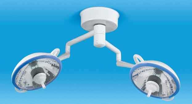 HID surgical light / ceiling-mounted / 2-arm MH Duo Medical Illumination International