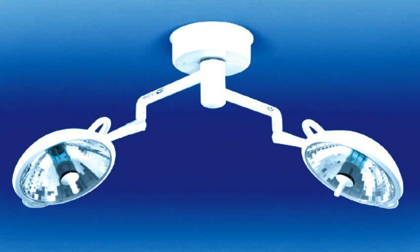 Halogen surgical light / ceiling-mounted / 2-arm S2 Duo Medical Illumination International