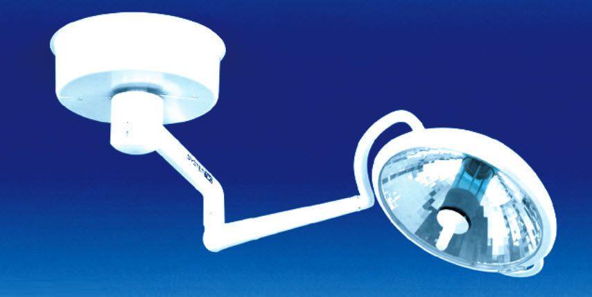 Halogen surgical light / ceiling-mounted / 1-arm S2 Solo Medical Illumination International
