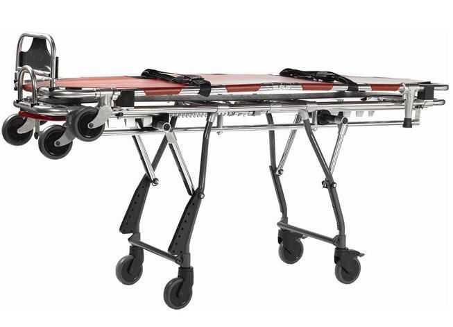 Mortuary stretcher trolley / height-adjustable / mechanical / 1-section 190 Kg | ISP LEEC