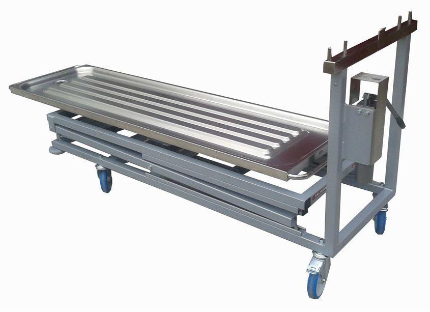 Mortuary trolley / embalming / hydraulic LEEC