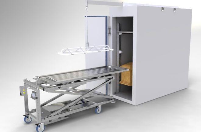 Coffin trolley / lifting / hydraulic Lift Assist LEEC