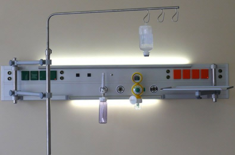 Wall-mounted supply beam system / intensive care / anesthesia Medical Technologies