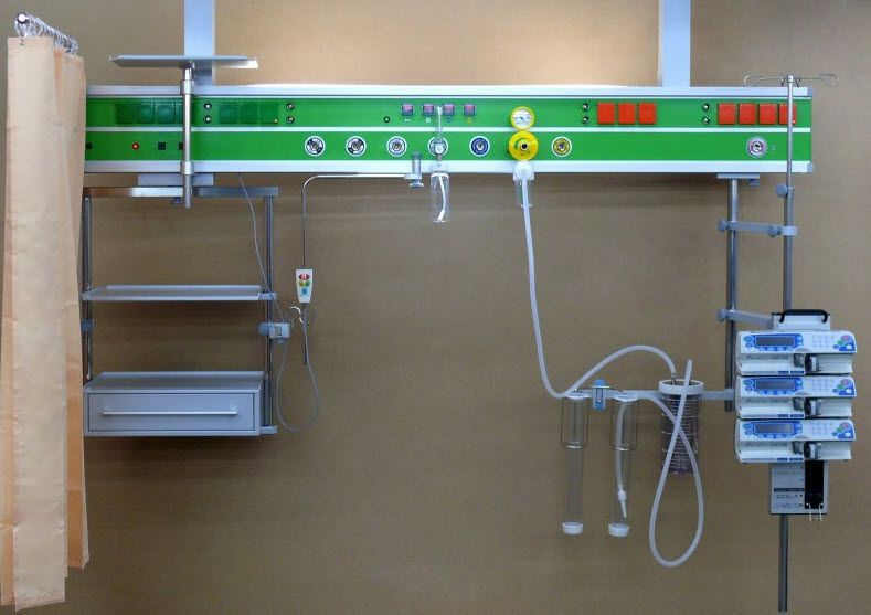 Ceiling-mounted supply beam system / emergency / ICU Medical Technologies