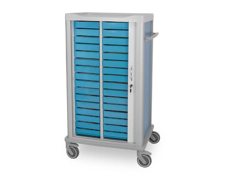 Medicine distribution trolley / 1-door / 25 to 34 container C-532 Lapastilla Soluciones Integrales SL
