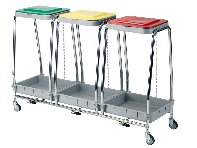 Dirty linen trolley / 3-bag LP-580-T Lapastilla Soluciones Integrales SL