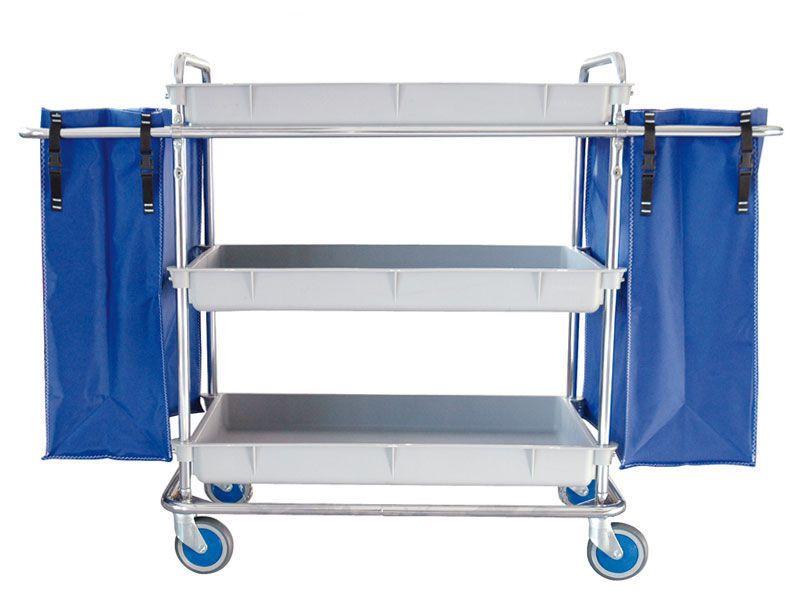 Linen trolley / 3-tray / 2-bag lp-MOD-20 Lapastilla Soluciones Integrales SL