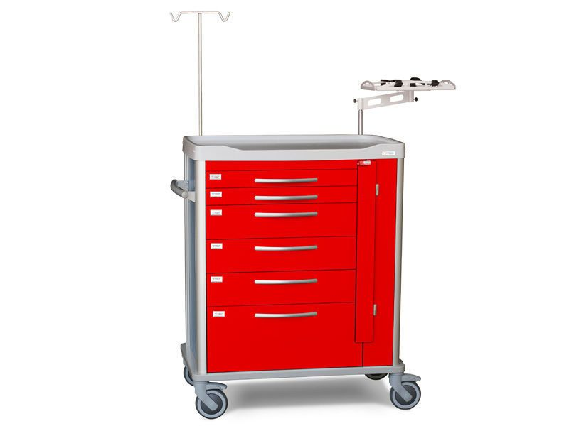 Emergency trolley / multi-function / with IV pole / with drawer D-URG Lapastilla Soluciones Integrales SL