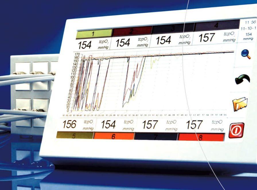 Oxygen pressure monitor / transcutaneous PRÉCISE 8008 medicap homecare