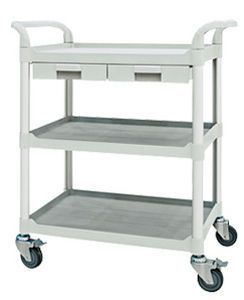 Treatment trolley / with drawer / 3-tray FC2802 Machan International Co., Ltd.