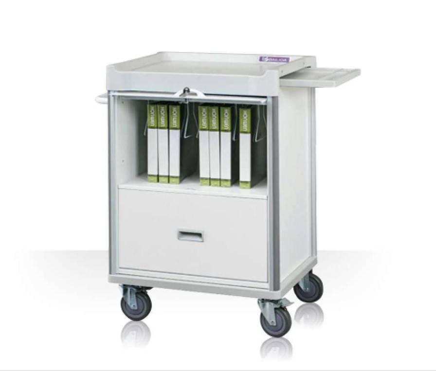 Medical record trolley / with drawer / horizontal-access MX34FDT Machan International Co., Ltd.