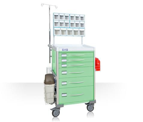 Anesthesia trolley / with side bin / with shelf unit LX37ANE Machan International Co., Ltd.