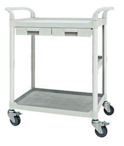 Treatment trolley / with drawer / 2-tray FC2806 Machan International Co., Ltd.