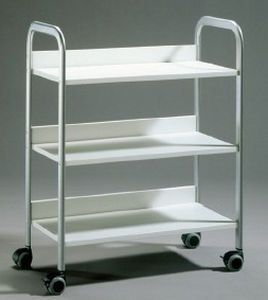Multi-function trolley / 3-tray 310 mm x 620 mm MEDICAL