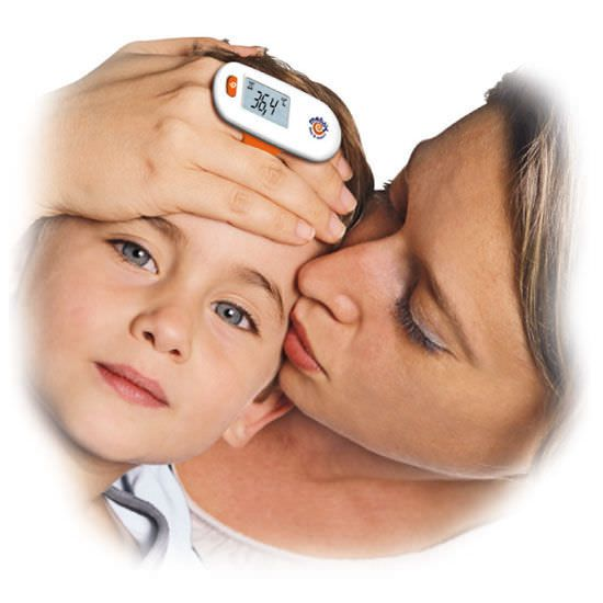 Medical thermometer / electronic / forehead MOTHER'S TOUCH Mebby