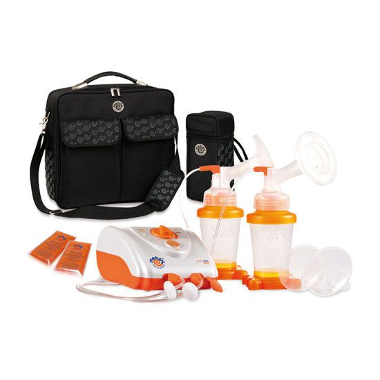 Electric breast pump / with rechargeable battery / double GENTLEFEED DUO Mebby