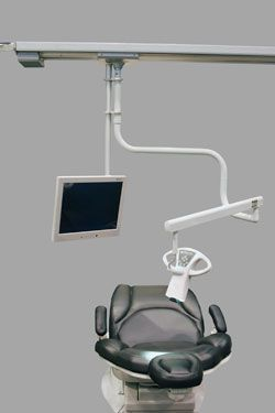 (surgical microscopy) / examination microscope / for dental examination / ceiling-mounted MagnaVu Track Magnified Video Dentistry