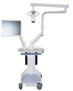 (surgical microscopy) / examination microscope / for dental examination / mobile MagnaVu Mobile Cart Magnified Video Dentistry
