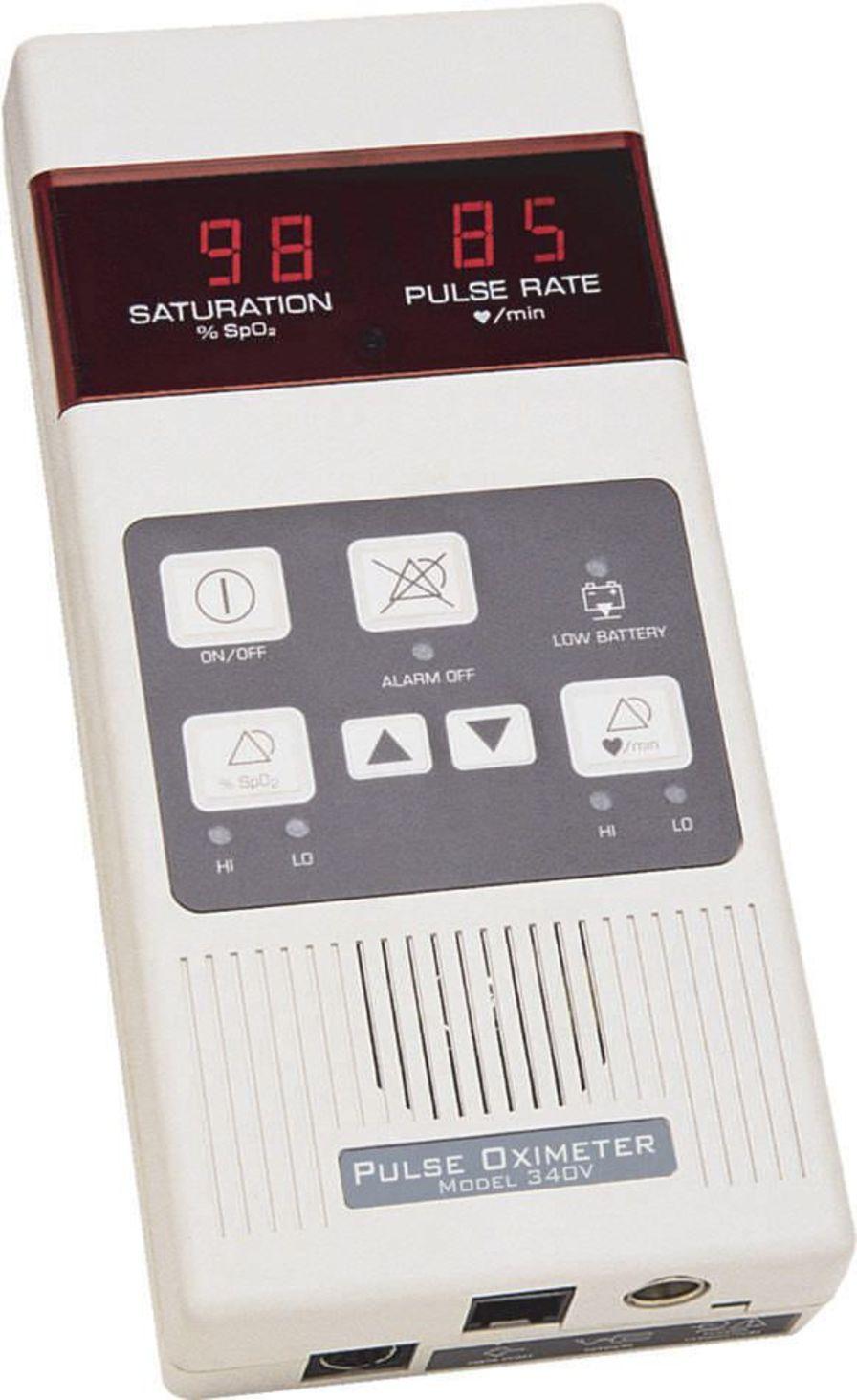 Pulse oximeter with separate sensor / handheld / veterinary 0-100 % SpO2 | MODEL 340VT Mediaid Inc.