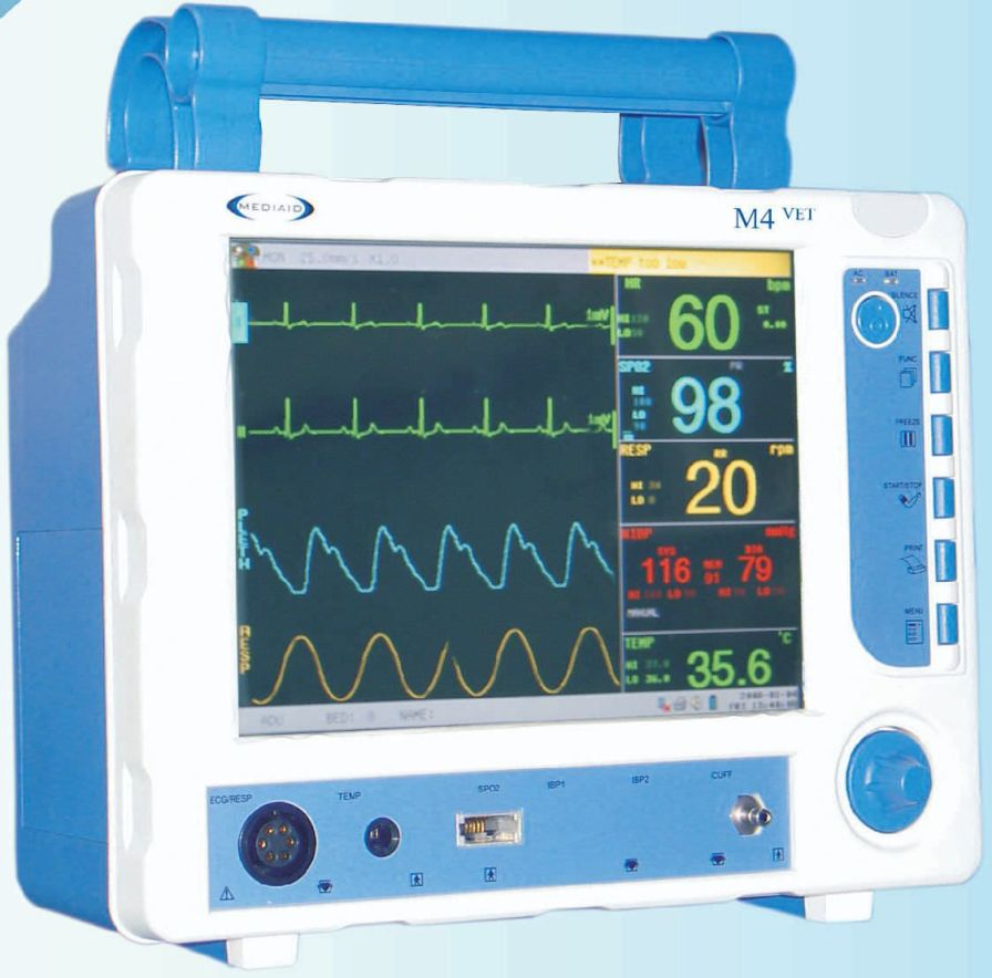 Compact multi-parameter monitor / veterinary M4 VET Mediaid Inc.