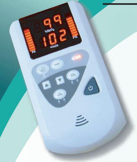 Handheld pulse oximeter / with separate sensor 0-100 % SpO2 | MODEL 34 / 34B Mediaid Inc.