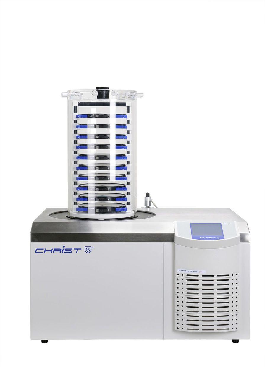 Freeze dryer laboratory / bench-top 12 kg/24 h, -85 °C | Gamma 2-16 LSCplus Martin Christ Gefriertrocknungsanlagen GmbH