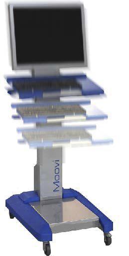 Medical computer cart MOOVI LM Realisations