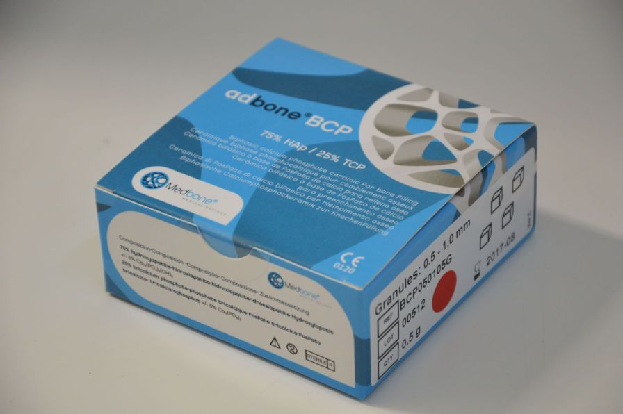 Synthetic bone substitute / rigid adbone®BCP Medbone Medical Devices