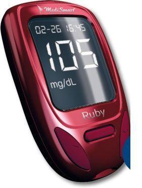 Blood glucose meter with USB port Ruby Lobeck Medical AG