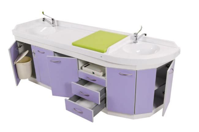Changing table / with bath Polymat Loxos