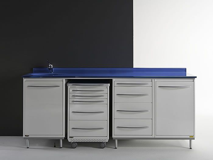 Storing cabinet / dentist office / with sink PRIMAVERA GLASS 2 Iride International