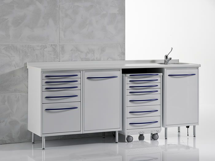 Storing cabinet / dentist office / with sink PACKAGE2P Iride International