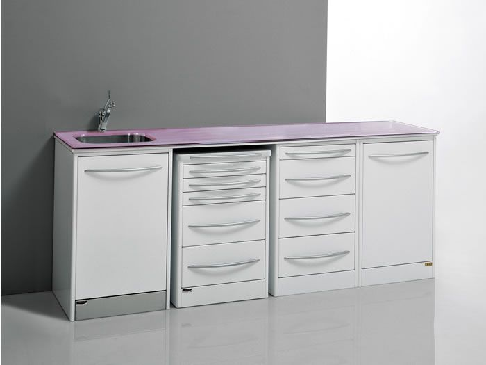 Storing cabinet / dentist office / with sink PRIMAVERA GLASS 3 Iride International