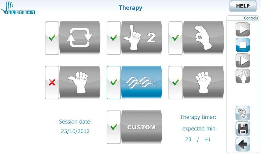 3D simulation software / hand rehabilitation Gloreha® Idrogenet