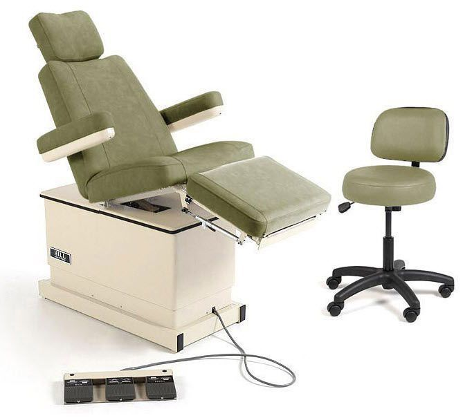 Podiatry examination chair / electrical / height-adjustable / 3-section Hill HA90P Hill Laboratories