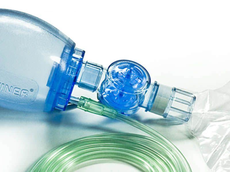 Pediatric manual resuscitator / disposable / with pop-off valve 550 ml, 40 cmH2O | 60102 Hsiner